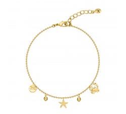 Bracelet souple OCEANIDE Agatha - Cristal - Doré - 02480061-157-TU
