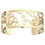 Bracelet manchette 25 MM LES GEORGETTES doré brillant Fleurs de mariage 70346690100000