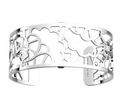 Bracelet manchette 25 MM LES GEORGETTES plaqué argent brillant Fleurs de mariage 70346691600000