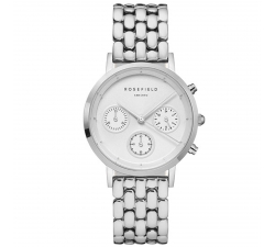 Montre femme ROSEFIELD The Gaby blanc argent 33 mm NWS-N92