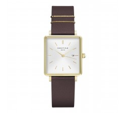 Montre femme ROSEFIELD The boxy blanc violet or 33 mm QSAG-Q030