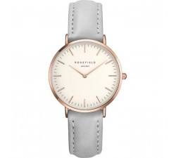 Montre femme ROSEFIELD The Tribeca blanc gris/or rose 33 mm TWGR - T57