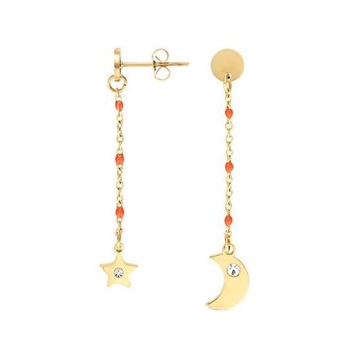 Boucles d'oreilles GO Mademoiselle acier jaune 608073