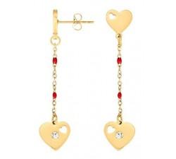Boucles d'oreilles GO Mademoiselle acier jaune 608087