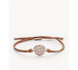 Bracelet femme acier Glitz à chevrons Fossil JF02746791