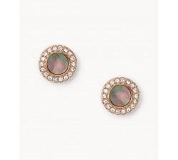 Boucles d'oreilles femme acier glitz nacrés gris Fossil JF02949791