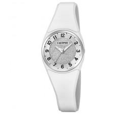 Montre Calypso Bracelet Silicone Blanc Boitier Aluminium Blanc K5752/1