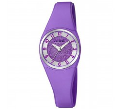 Montre Calypso Bracelet Silicone Violet Boitier Aluminium Violet K5752/4