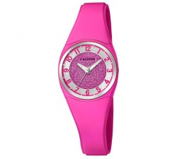 Montre Calypso Bracelet Silicone Rose Boitier Aluminium Rose K5752/5