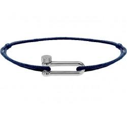 Bracelet acier, cordon coton Mila ROCHET B25602506