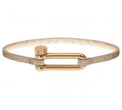 Bracelet MILA 26mm PVD Rose PU 3mm Pailleté Rose ROCHET B34690410M