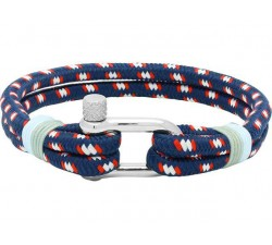 Bracelet Acier/Nylon Marine WINCH 8mm Bleu Ciel ROCHET B35268011L