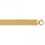 Bracelet or jaune 375/1000 mailles forçat 10 rangs by Stauffer