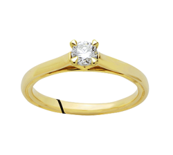 Bague or jaune 750/1000 et diamant by Stauffer