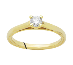 Bague or jaune 750/1000 et diamant by Stauffer