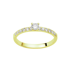 Bague or jaune 750/1000 et diamants 0,39 carat by Stauffer