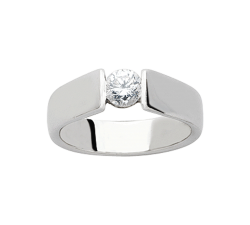 Bague platine 950/1000 et diamant 0,20 carat by Stauffer