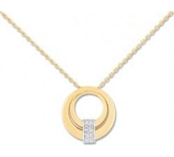 Collier 2 ors 375/1000 et diamants by Stauffer