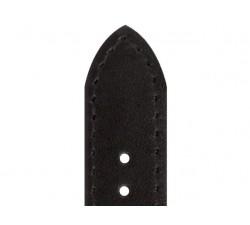 Bracelet de montre Vachette LEEDS Noir 16/14mm Lisse 6130501