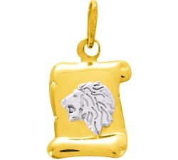 Pendentif zodiaque Lion or bicolore 375/1000 by Stauffer