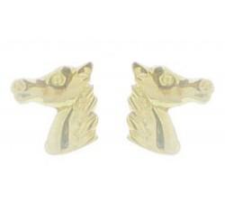 Boucles d'oreilles tête de cheval or jaune 375/1000 by Stauffer