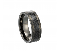 BAGUE BADUNE TUNGSTENE, CARBONE JOURDAN OU 018 H