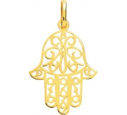 Pendentif main de Fatma or jaune 750/1000 by Stauffer