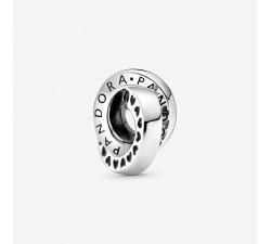 Charm Espaceur Anneaux Logo & Cœur en Argent 925/1000 PANDORA 799035C00