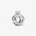 Charm Logo & O Couronné Pandora en Argent 925/1000 PANDORA 799036C00