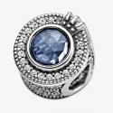 Charm O Couronné Bleu Scintillant en Argent 925/1000 PANDORA 799058C01