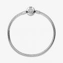 Bracelet Maille Serpent O Couronné Scintillant Pandora Moments en argent 925/1000 599046C01-17