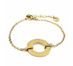 Bracelet femme Caprice Acier doré jaune Pierre Lannier BJ01A1201