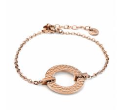 Bracelet femme Caprice Acier doré rose Pierre Lannier BJ01A1401