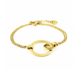 Bracelet femme Séduction Acier doré jaune Pierre Lannier BJ02A1201