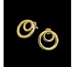Boucles d'oreilles femme Séduction Acier doré jaune Pierre Lannier BJ02A2201