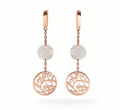 Boucles d'oreilles femme Eolia Acier doré rose Pierre Lannier BJ03A2491