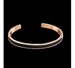 Bracelet jonc femme Symphony Acier doré rose Pierre Lannier Noir BJ04A5438