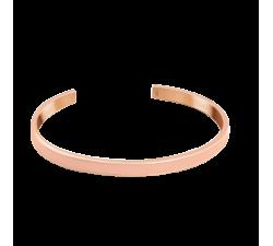 Bracelet jonc femme Symphony Acier doré rose Pierre Lannier Rose BJ04A5458
