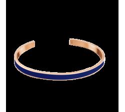 Bracelet jonc femme Symphony Acier doré rose Pierre Lannier Bleu BJ04A5468