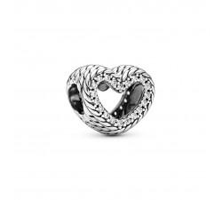 Charm cœur ouvert à motif de chaîne de serpent en Argent 925/1000 PANDORA 799100C01