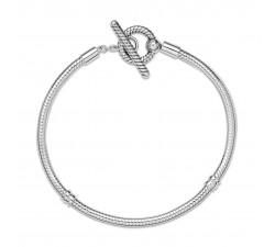 Bracelet chaîne serpent à barre en T Pandora Moments en argent 925/1000 599082C00