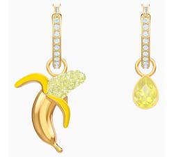 Boucles d'oreilles No Regrets Banana, multicolore, métal doré Swarovski 5453571