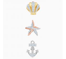 Boucles d'oreilles Ocean, multicolore, combinaison de métaux plaqués Swarovski 5462582