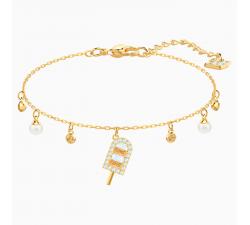 Bracelet No Regrets Ice Cream, multicolore, métal doré Swarovski 5465411