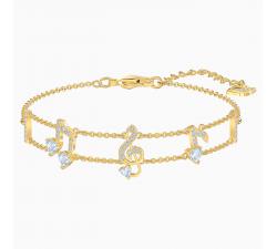 Bracelet Pleasant, blanc, Métal doré Swarovski 5491658