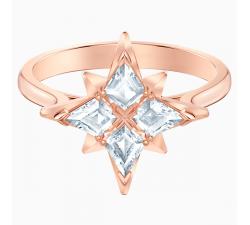 Bague avec motif Swarovski Symbolic Star, blanc, Métal doré rose 5494346