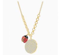 Collier Lisabel Coin, rouge, Métal doré Swarovski 5498808