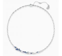 Collier Louison, bleu, métal rhodié Swarovski 5536547