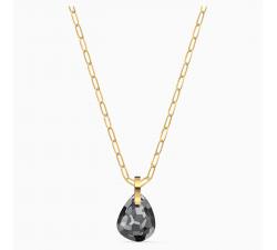 Collier Pendentif T Bar, gris, métal doré Swarovski 5558340