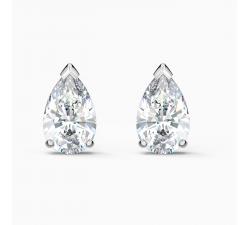 Boucles d'oreilles clous Attract Pear, blanc, métal rhodié Swarovski 5563121